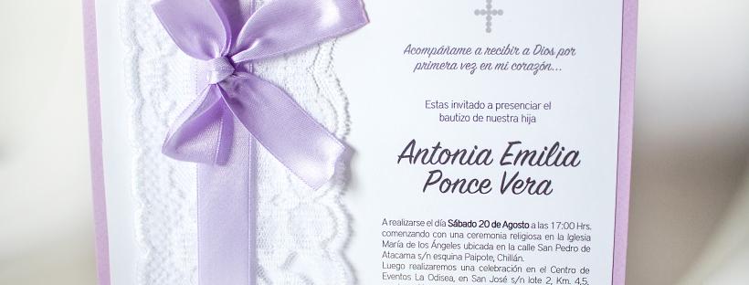 Tarjeta Invitación Bautizo Ae Amo Mi Fiesta